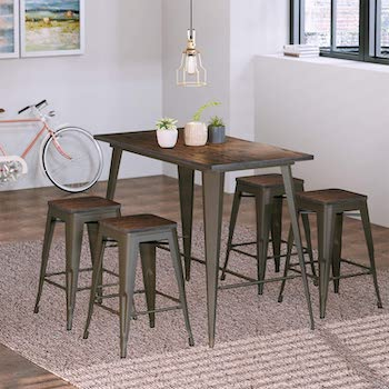 Best High Top24 Inch Wide Rectangular Dining Table