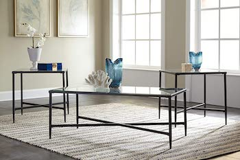 Best Living Room 3-Piece Glass Table Set