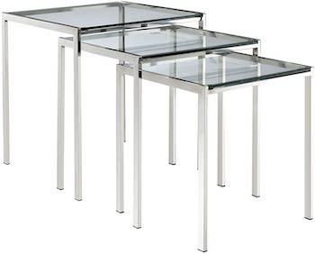 Best Nesting 3-Piece Glass Table Set