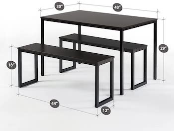 Best Of Best Black 3-Piece Dining Set