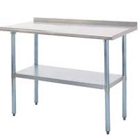 Best Restaurant 24 x 48 Stainless Steel Table Rundown