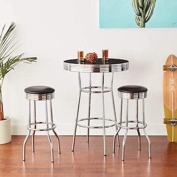 Best Retro 3-Piece High-Top Table Set