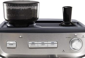 Best Single-Double Espresso Machine With Grinder & Steamer