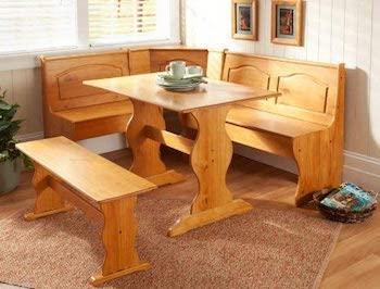 Best Solid Wood 3-Piece Nook Dining Set