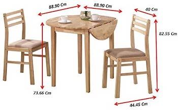 Best Wooden 3-Piece Dining Set For Small Space