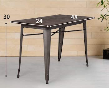 FDW 24 Wide Dining Table Metal