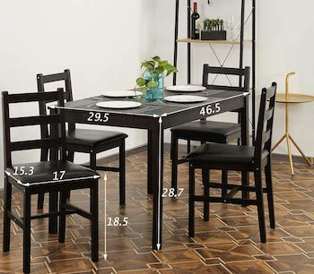 FDW Dining Table Set 4 Person