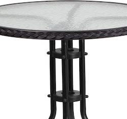 Flash Furniture Round Glass Table