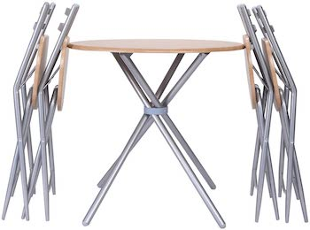 Giantex 5 PCS Round Table 4 Chairs