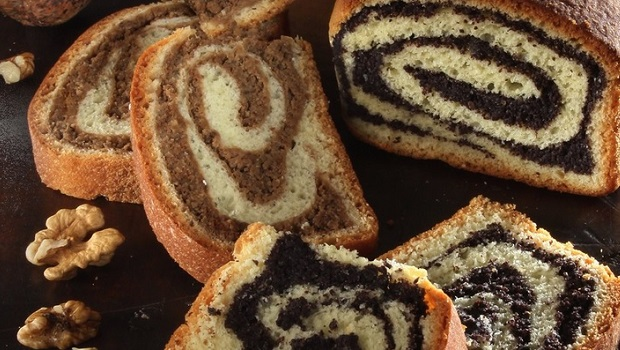 Poppy Seed Roll And Walnut Roll