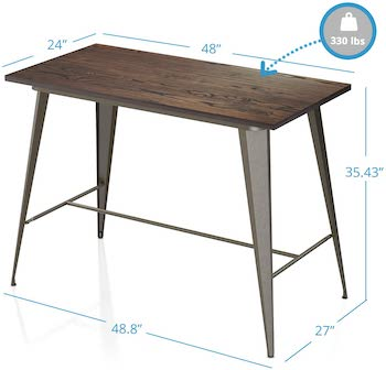 VIPEK Rustic Style Dining Table