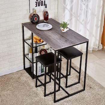 Vecelo 3-Piece Dining Set For Small Space