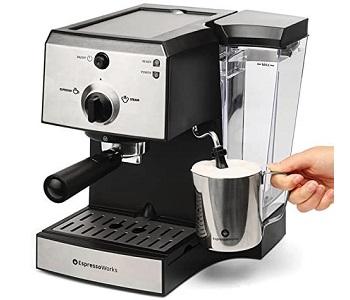 Best Cappuccino Espresso Machine With Grinder & Steamer
