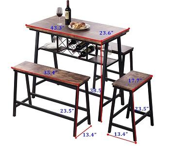 Best Wooden 3 Chair Dining Set