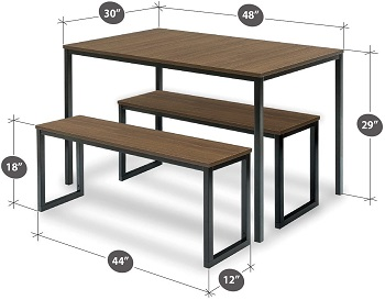 Best Wooden Modern 3 Piece Dining Set