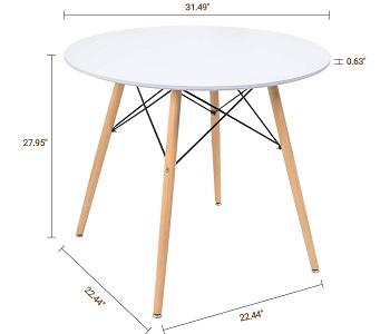 KaiMeng White Dining Table