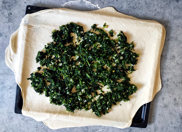 Soparnik - Rolled Out Dough & Chard Filling