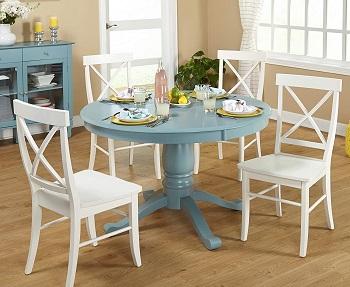 Target Antique Blue Modern Table