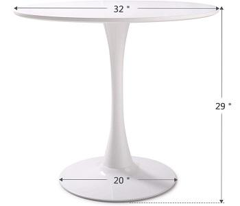 Tobbi White Tulip Table