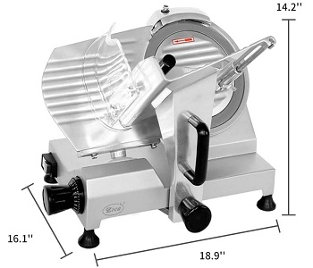 Zica Chrome-Plated Meat Slicer