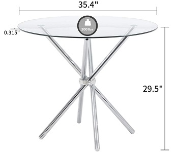 Bacyion Modern Round Dining Table