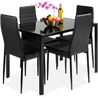 Best Black Glass Top Dining Table Set 4 Seater Rundown