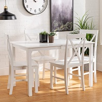 Best Farmhouse Solid Wood Dining Table Set 4 Seater Rundown