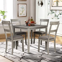 Best Farmhouse Square Dining Table Set For 4 Rundown
