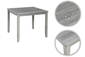 Best Farmhouse Square Dining Table Set For 4