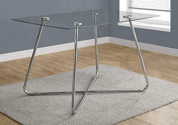Best Glass 36 Inch Wide Rectangular Dining Table