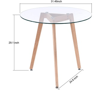 Best Glass 4 Person Round Dining Table
