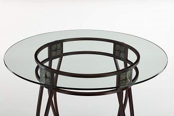 Best Glass 42 Inch Round Counter Height Table