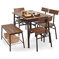 Best Industrial Dining Table 4 Chairs & Bench Rundown