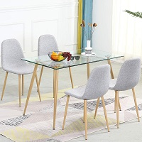 Best Modern Glass Top Dining Table Set 4 Seater Rundown
