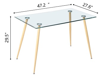 Best Modern Glass Top Dining Table Set 4 Seater