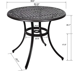 Best Of Best 36 Inch Round Outdoor Table