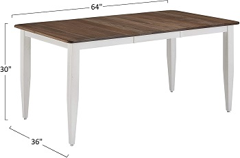 Best Of Best 36 Inch Wide Rectangular Dining Table