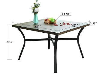 Best Of Best 40 Inch Square Dining Table