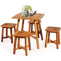 Best Patio Solid Wood Dining Table Set 4 Seater Rundown
