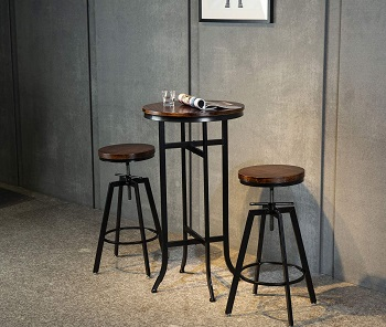 Best Ped 42 Inch Round Counter Height Table