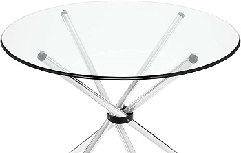 Best Pedestal 36-Inch Round Glass Dining Table