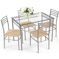 Best Rectangle Glass Top Dining Table Set 4 Seater Rundown