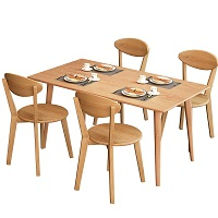Best Rectangle Solid Wood Dining Table Set 4 Seater Rundown