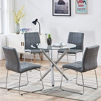 Best Round Glass Top Dining Table Set 4 Seater Rundown
