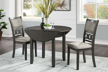 Best Set 42 Inch Round Extendable Dining Table