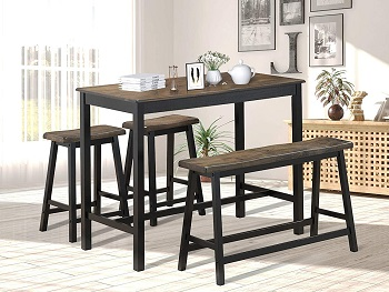 Best Small Solid Wood Dining Table Set 4 Seater