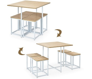 Best Small Square Dining Table Set For 4