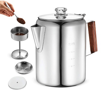 Best Stainless Steel Camp Stove Coffee Maker
