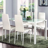 Best White Glass Top Dining Table Set 4 Seater Rundown