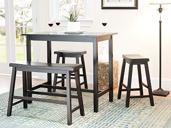 Best With Bench 4 Piece Pub Table Set